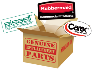 Genuine Rubbermaid and Carex Parts Logo