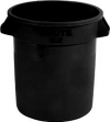 10 GALLON BRUTE® VENTED CONTAINER WITHOUT LID - BLACK