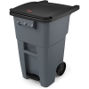 50 GALLON BRUTE® STANDARD STEP-ON ROLLOUT CONTAINER - GRAY