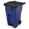 50 GALLON BRUTE® STANDARD STEP-ON ROLLOUT CONTAINER - BLUE