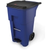 65 GALLON BRUTE® STANDARD STEP-ON ROLLOUT CONTAINER - BLUE