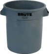 10 GALLON BRUTE® VENTED CONTAINER WITHOUT LID - GRAY