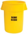 "44 GALLON BRUTE®  - ""USDA CONDEMNED"" - UNBRANDED - YELLOW"