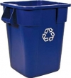 40 GALLON BRUTE® SQUARE RECYCLING CONTAINER W/O LID - BLUE