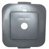 SQUARE BRUTE® 40 GAL LID W/3 INCH ROUND HOLE & CANS ONLY IMPRINT