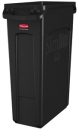 EXECUTIVE 23 GALLON SLIM JIM® WITH VENTING CHANNELS - BLACK