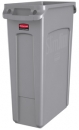 EXECUTIVE 23 GALLON SLIM JIM® WITH VENTING CHANNELS - GRAY