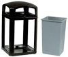 LANDMARK SERIES® CLASSIC CONTAINER - DOME TOP FRAME WITH LOCK OPTION - WITH 3958 RIGID LINER
