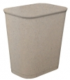 14 QUART UL WASTEBASKET - GRANITE PEWTER