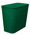 27 QUART UL WASTEBASKET - GREEN