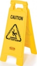 "FLOOR SIGN WITH MULTI-LINGUAL ""CAUTION""  IMPRINT"