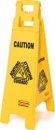 "FLOOR SIGN WITH MULTI-LINGUAL   ""CAUTION""  IMPRINT - 4-SIDED"
