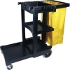 EXECUTIVE CLEANING CART W/ ZIPPERED YELLOW VINYL BAG