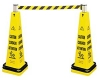 CONE BARRICADE SYSTEM CONSISTS OF: 6276 - (1) BELT CASSETTE AND (1) DOUBLE WEIGHT RING