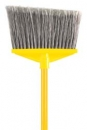 BROOM - 1 INCH  DIA (2.5 CM) VINYL COATED METAL HANDLE - FLAGGED POLYPROPYLENE FILL