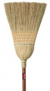 CORN BROOM - WAREHOUSE - 1 1/8 INCH  DIA (2.9 CM) STAINED/LACQUERED HANDLE