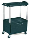 "Audio-Visual Cart, 3 Shelves with Cabinet, 4"" dia (10.2 cm) Casters"