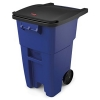 50 GALLON BRUTE® ROLLOUT CONTAINER WITH LID - BLUE