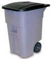 50 GALLON BRUTE® ROLLOUT CONTAINER WITH LID - GRAY