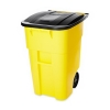50 GALLON BRUTE® ROLLOUT CONTAINER WITH LID - YELLOW