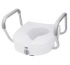 E-Z LOCK RAISED TOILET SEAT WITH ADJUSTABLE HANDLES
