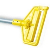 INVADER® SIDE GATE WET MOP HANDLE - LARGE YELLOW PLASTIC HEAD - GRAY ALUMINUM HANDLE